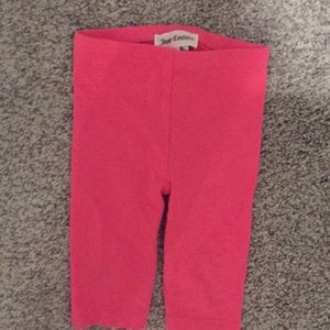 Girls juicy couture pink leggings 3-6 months